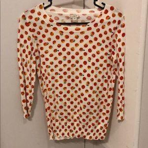 J. Crew Orange Print Sweater